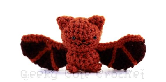 Eastern Red Bat Amigurumi Crocheted Plush Toy