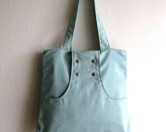 SALE - Dulce  Tote Bag in light blue-aqua