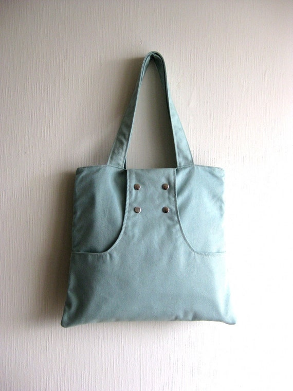 SALE - Dulce  Tote Bag in light blue-aqua
