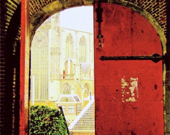 European Travel Photo - Red Door Photograph - Medieval Fairy Tale Castle - Fine Art Photography