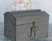 Wedding Card Box With Lock Vintage Wedding Decor (Item Number MHD100023) Morgann Hill Designs