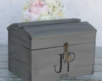 Wedding Card Box With Lock Vintage Wedding Decor (Item Number MHD100023) Morgann Hill Designs