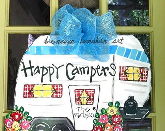 Happy Campers Door Hanger - Bronwyn Hanahan Original