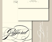 Last Name First - Thank You Cards