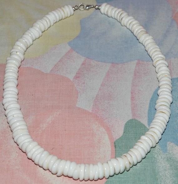"Native Treasure - Authentic Genuine Puka Shell Necklace - 12mm (1/2"" min)"
