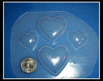 SALE Flexible Plastic Handmade Resin Mold- 4-Hearts Desire