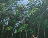 "Deer Painting, Original Animal Painting, Wall decor, Wall hanging, Wall Art,  Home decor, ""Deer in my Yard"""
