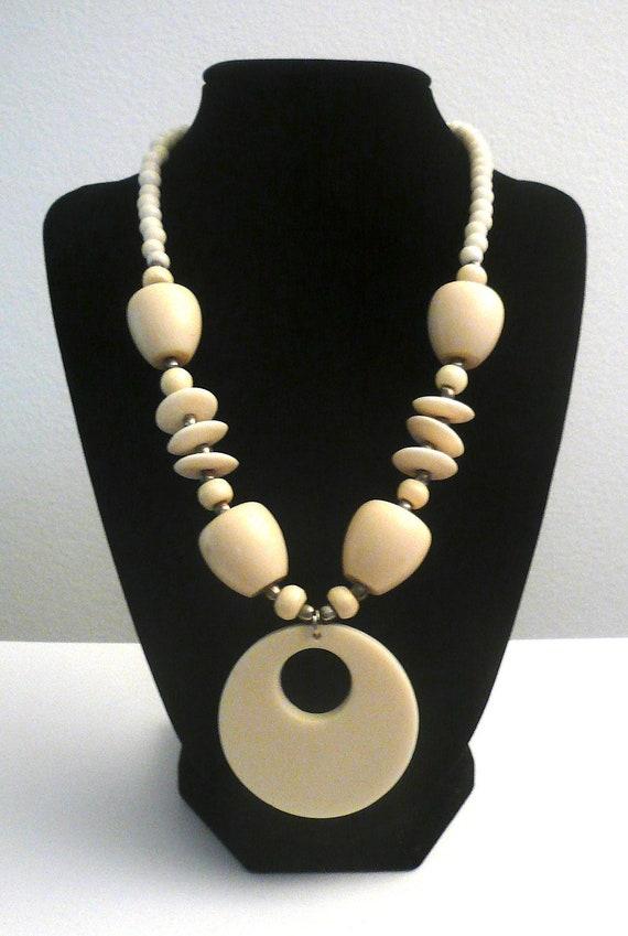 Sale... Ivory Bone Necklace