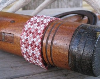 Beadwoven Seed Bead Argyle Cuff - Penny Candy