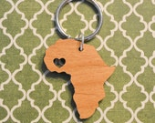 Ghana Love Wood Key Ring