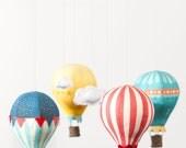 Hot Air Balloons - Fabric Panel in Circus