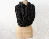 Charcoal Chunky Infinity Scarf, Womens, Gift for her, Womens Gift, Christmas Gift, For Her, For Wife, Womens Scarf