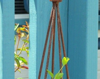 ONE-Fleur de Lis Topped Trellis Tower All Metal Stylish Classic for your flowering vines and tomatoes