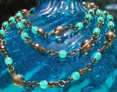 Brown and Green Necklace,...