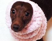 Italian Greyhound (Small Dog) Snood or Neck Warmer in Pink Cotton Candy Color