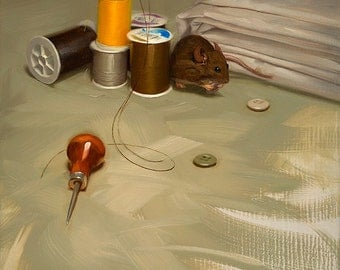 House Mouse - 8x10 Print of Original Oil Painting