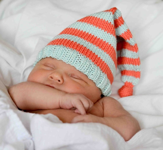 Baby Gnome Hat Knitting Pattern : Knit Elf/Pixie Baby Hat Pattern by SweetPKnits on Etsy