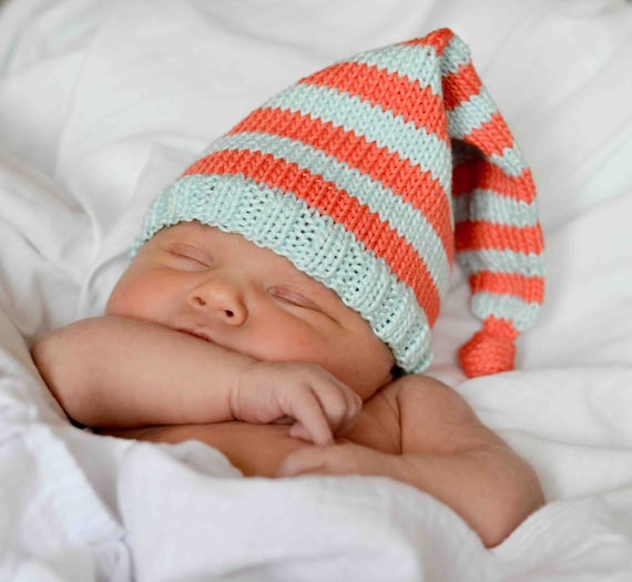 Knitting Patterns For Baby Elf Hats : Knit Elf/Pixie Baby Hat Pattern by SweetPKnits on Etsy