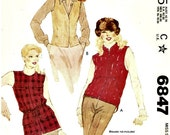 Vintage Vests Pattern McCalls 6847
