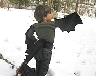 Toothless Wings & Tail Set for Little Night Furies