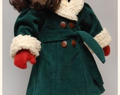 """1930s Coat Sewing Pattern by Dollhouse Designs for 18"""" American Girl Dolls DIGITAL DOWNLOAD"""