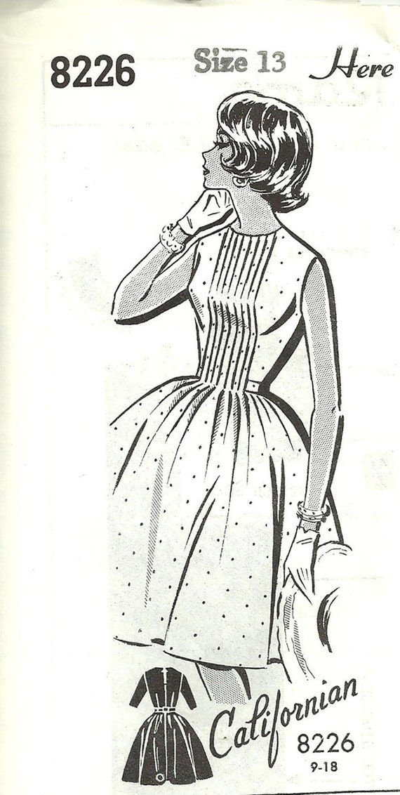 Vintage Mail Order Sewing Pattern // Patt o Rama 8226 // Dress // Size 13 Bust 33