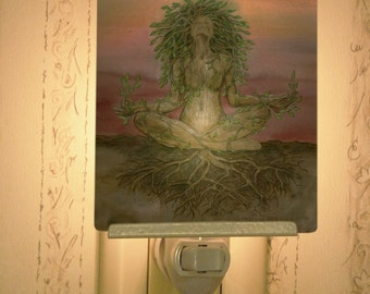 Dryad Spirit Porcelain Tile Night Light