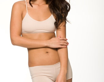 Tan Sleepwear Lingerie- Bralette- Small