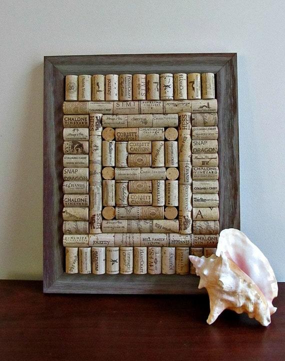 Rustic Wine Cork Board / Corkboard - Rustic, Shabby Cottage Chic, Country Decor, Beach Decor