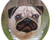 Custom Dog Painted Wine Glass ~ Birthday Gift ~ Gifts Under 30 ~ Man Gift ~ Dog Wine Glass