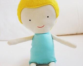 Doll Sewing Pattern Toy Cloth Boy Doll Pattern PDF - Sky & Tad