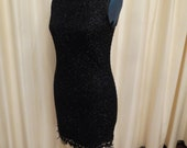 Vintage Black Greg Sernack Cocktail Party Dress