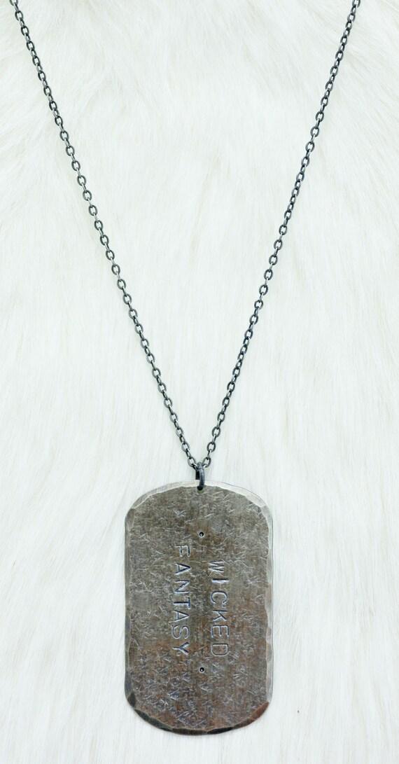 military dog tag custom engraved dog tag necklace for a man. Black Bedroom Furniture Sets. Home Design Ideas