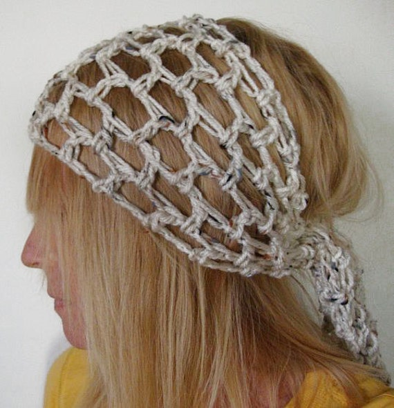 Crochet Gypsy Style Hair Band Pattern : Crochet Gypsy Style Head Scarf Head Band Scarf by daiseychain