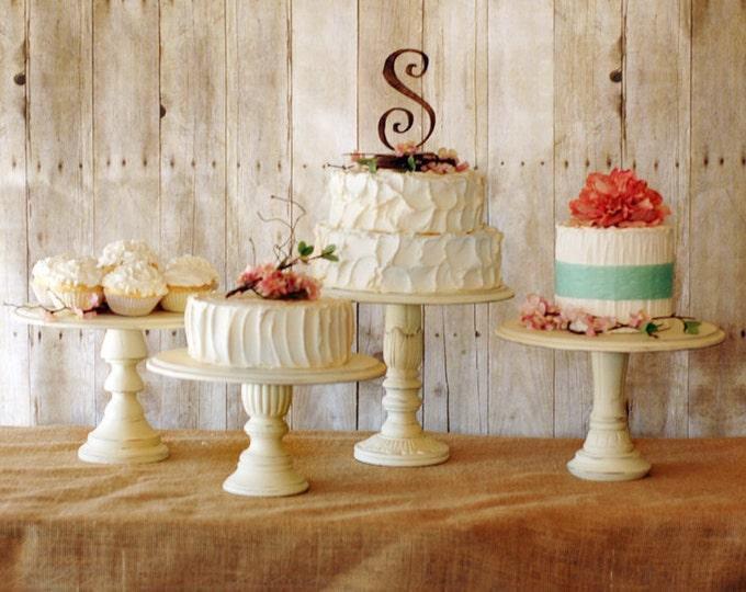 Set of 5 Pedestal Serving Cake Stands - Any color