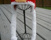 Santa Buckle hat- Crochet Santa Hat- Christmas Hat- Christmas Santa Baby Hat (Sizes Newborn to 24 months)