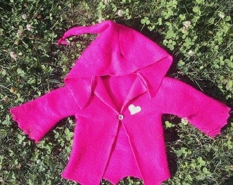 CUSTOM Childrens Fleece Pixy Hoodie