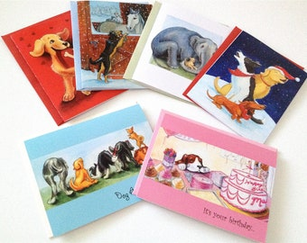 Greeting Card Variety Pack - The JenKellerArt SIX PACK (6 cards per pack)