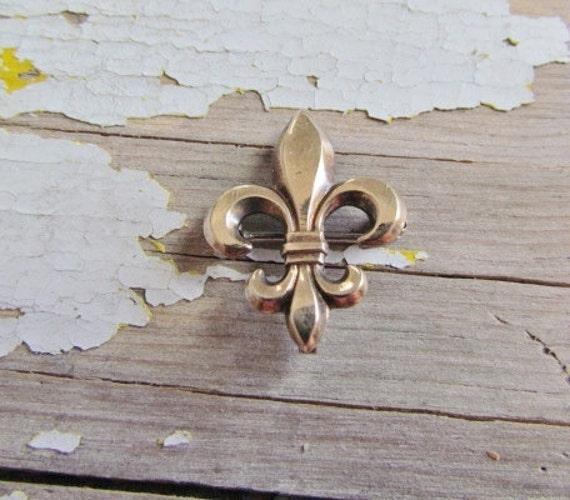 Antique Gold Filled Fluer De Lis Pin c.1910
