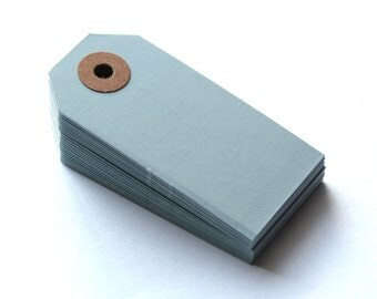 Light Blue 2 3/4 x 1 3/8 Inch Shipping Tags 20pcs // Color Tags