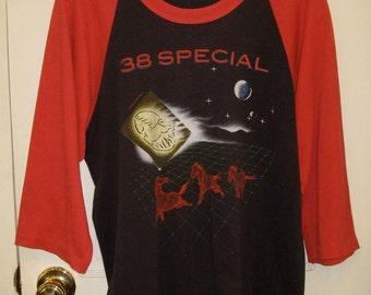 Vintage 38 Special Classic Rock Band 1984 Tour Baseball Jersey T-shirt looks size Large