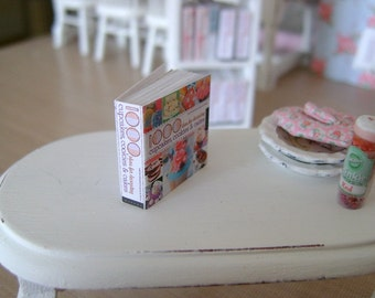 RECIPE COOKBOOK BOOK with 42 Printed Pages inside - Choose 1/12 or 1:6 Scale Miniature
