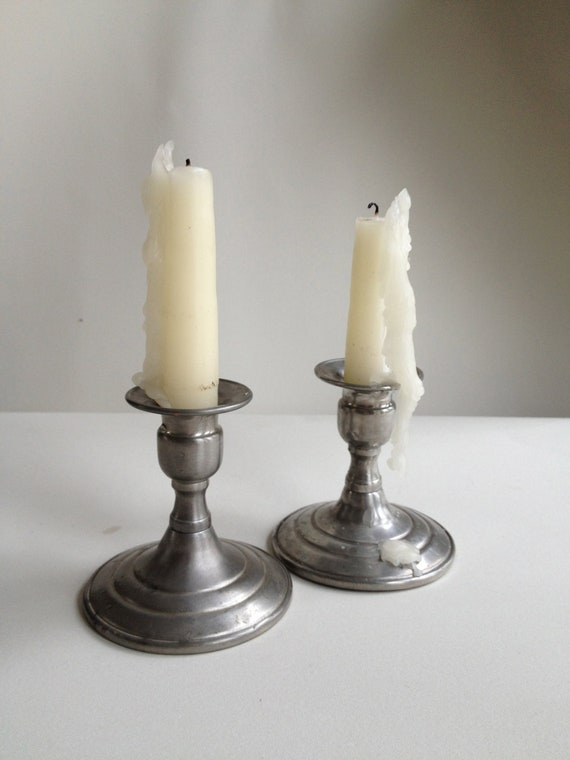 Vintage Lunt Pewter Candle Holders