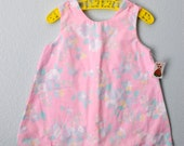 vintage toddler pink scallop dress - 3RingCircus