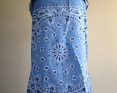 Bandanna Blouse Blue Jean Denim Western Top Ladies Cowgirl - Size Small