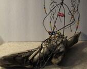 Wire Art Sculpture Mermaid Sea Goddess Sea Creature on driftwood