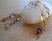 Ametrine Wire Wrapped Gold Filled Bracelet