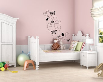 Vinyl Wall Decal Butterfly OSDC107B