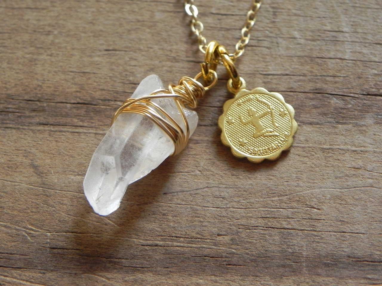 sagittarius necklace zodiac beadwork necklace astrological