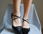 vintage CRISS CROSS leather heels 8.5